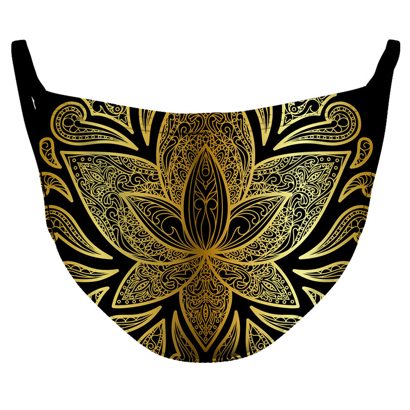 Golden Lotus Reusable Double Layer Cloth Face Mask and Covering