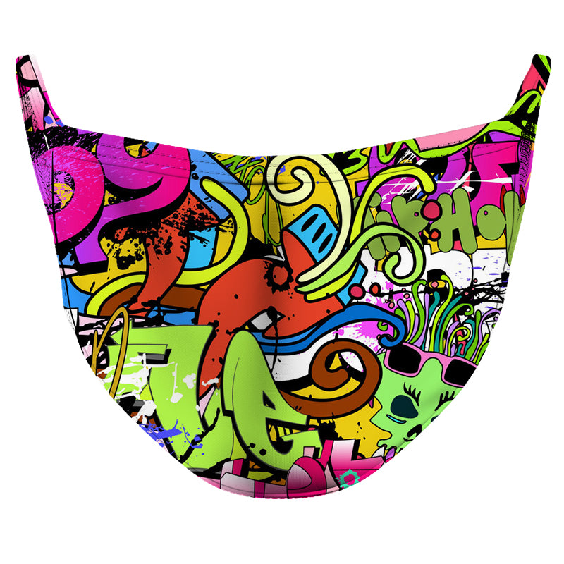 Graffiti 2 Reusable Double Layer Cloth Face Mask and Covering