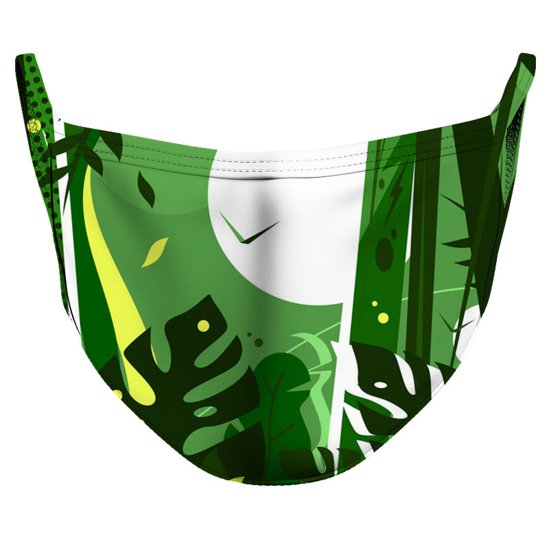 Green Moon Reusable Double Layer Cloth Face Mask and Covering