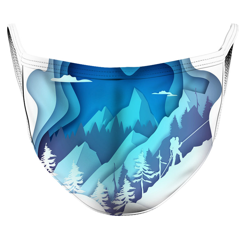 Ice Cold Night Reusable Double Layer Cloth Face Mask and Covering