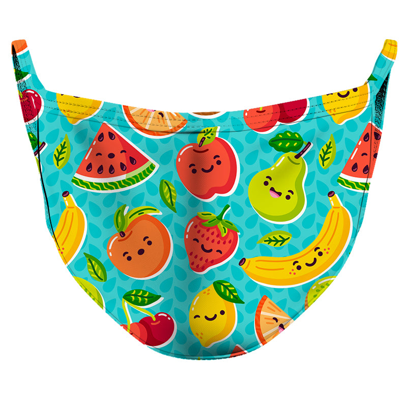 Juicy Fruits Reusable Double Layer Cloth Face Mask and Covering