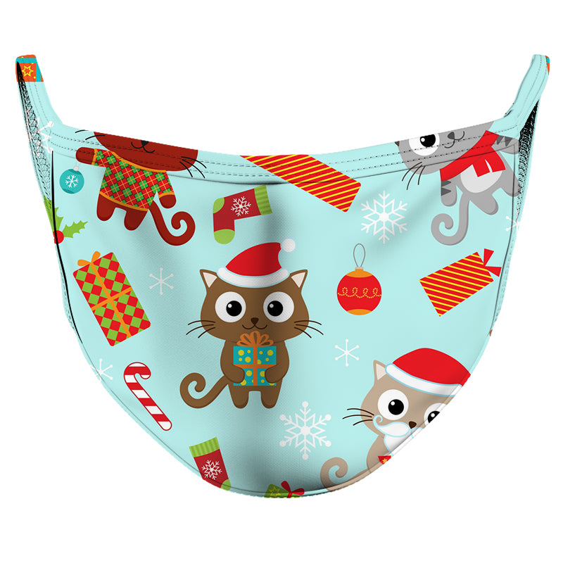 Kitten First Christmas Reusable Double Layer Cloth Face Mask and Covering