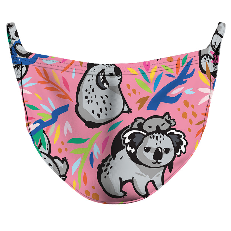 Koala Family Reusable Double Layer Cloth Face Mask and Covering