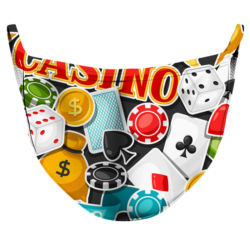 Let's go to the Casino! Reusable Double Layer Cloth Face Mask and Covering