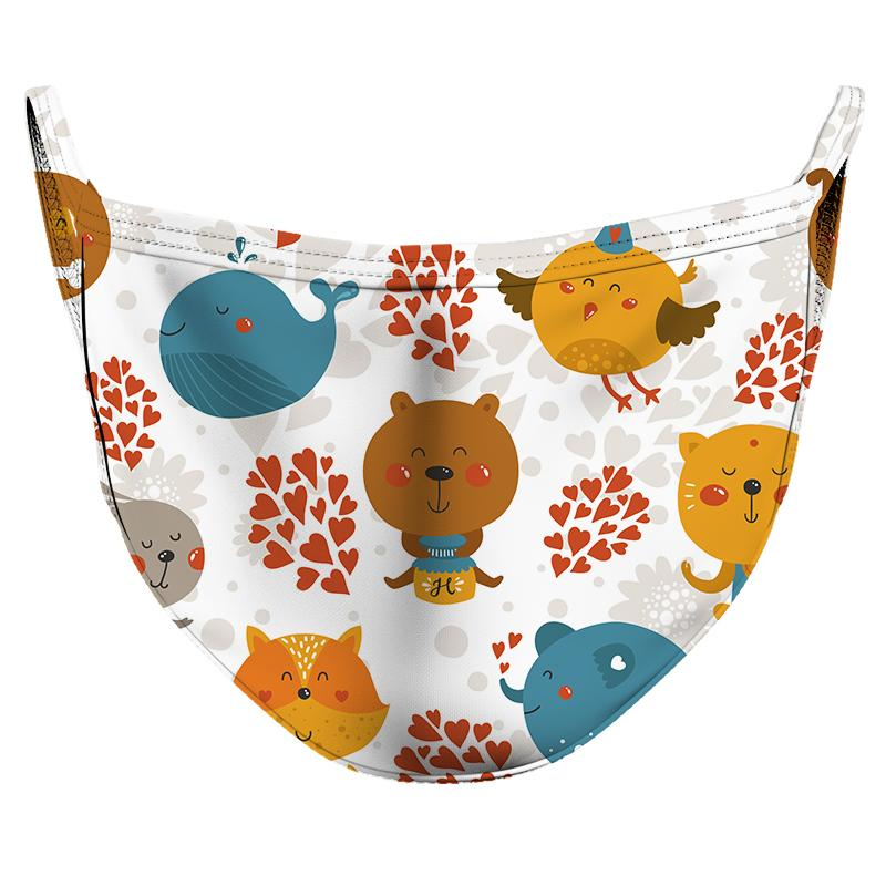 Animal Friends Reusable Double Layer Cloth Face Mask and Covering