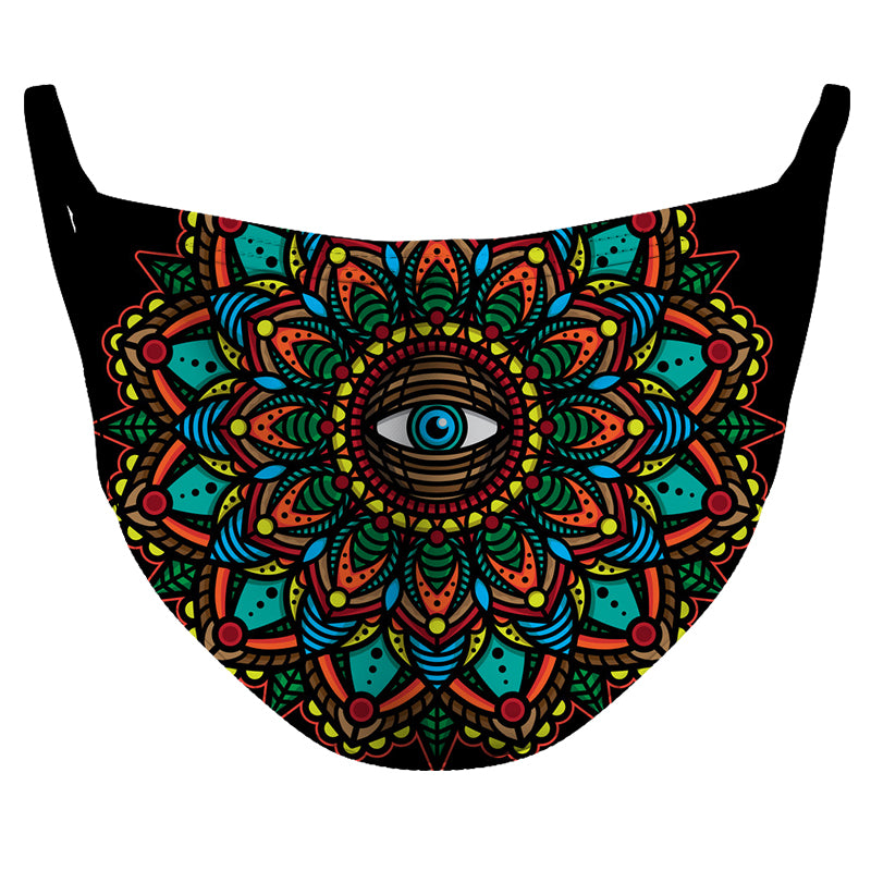 Mandala's Eye 1 Reusable Double Layer Cloth Face Mask and Covering