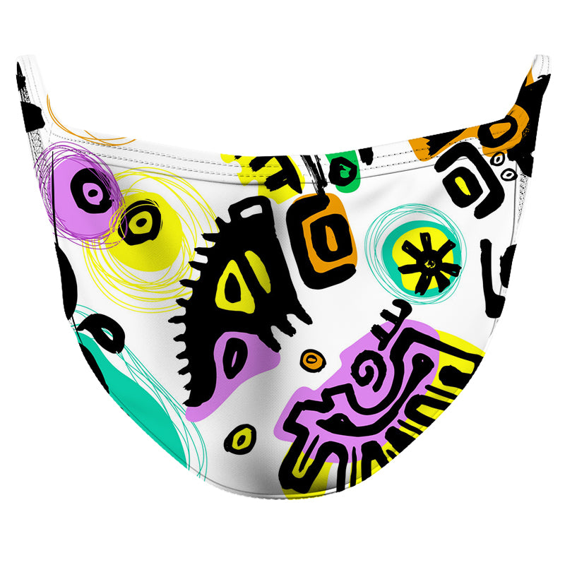 Native Technicolor Reusable Double Layer Cloth Face Mask and Covering