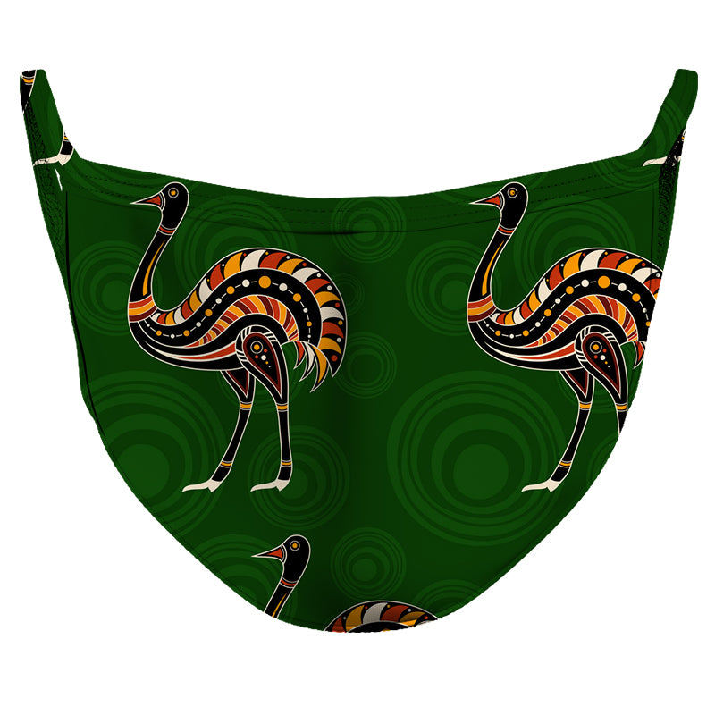 Ostrich Speed Reusable Double Layer Cloth Face Mask and Covering