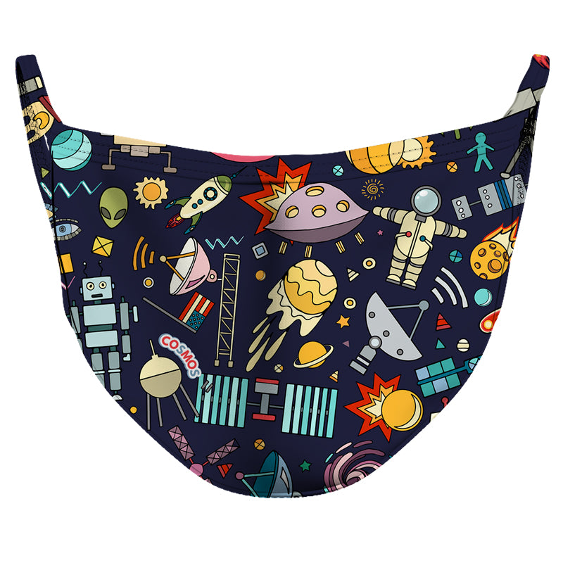 Outer Space Party Reusable Double Layer Cloth Face Mask and Covering