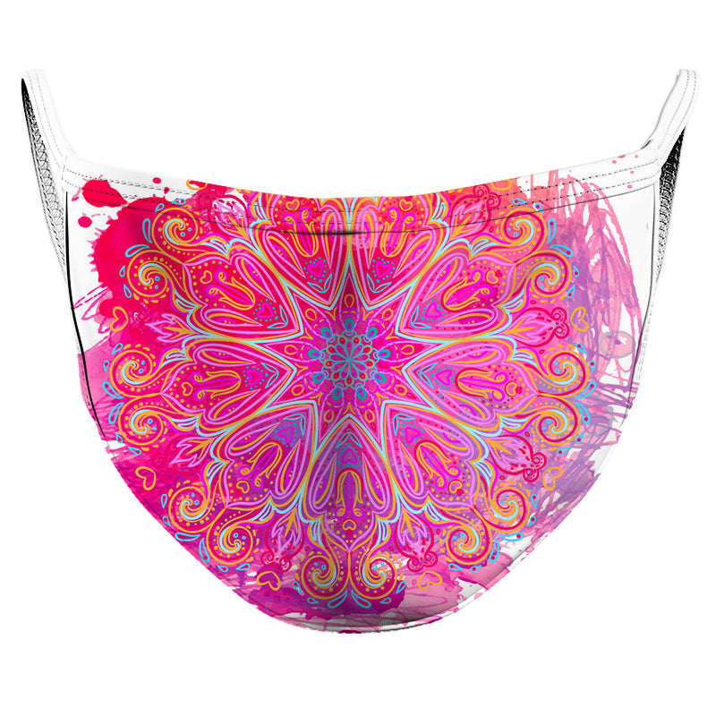 Pink Mandala Reusable Double Layer Cloth Face Mask and Covering
