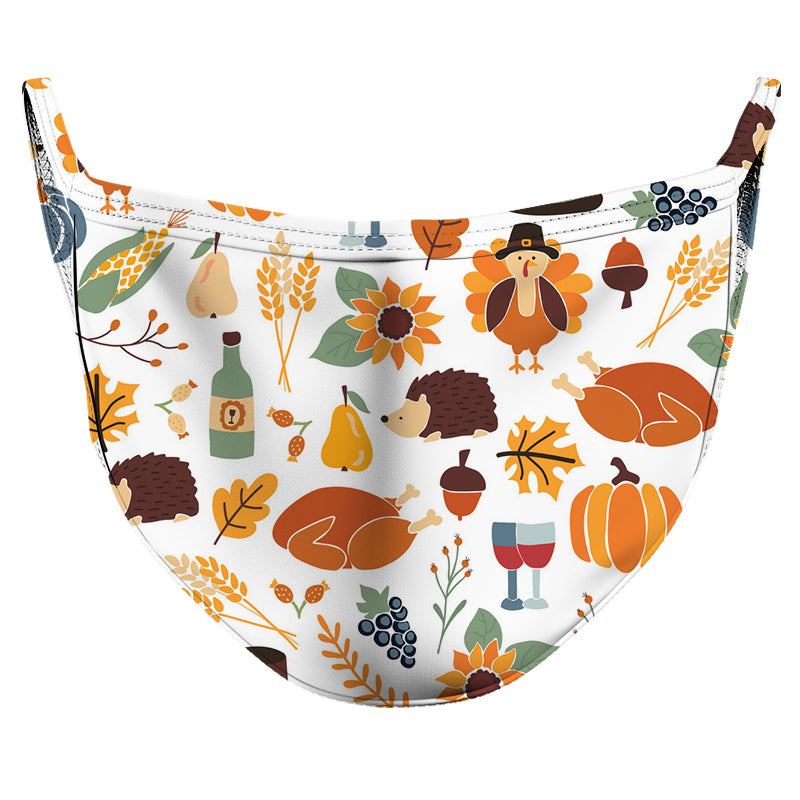 Pumpkin Spice 2 Reusable Double Layer Cloth Face Mask and Covering