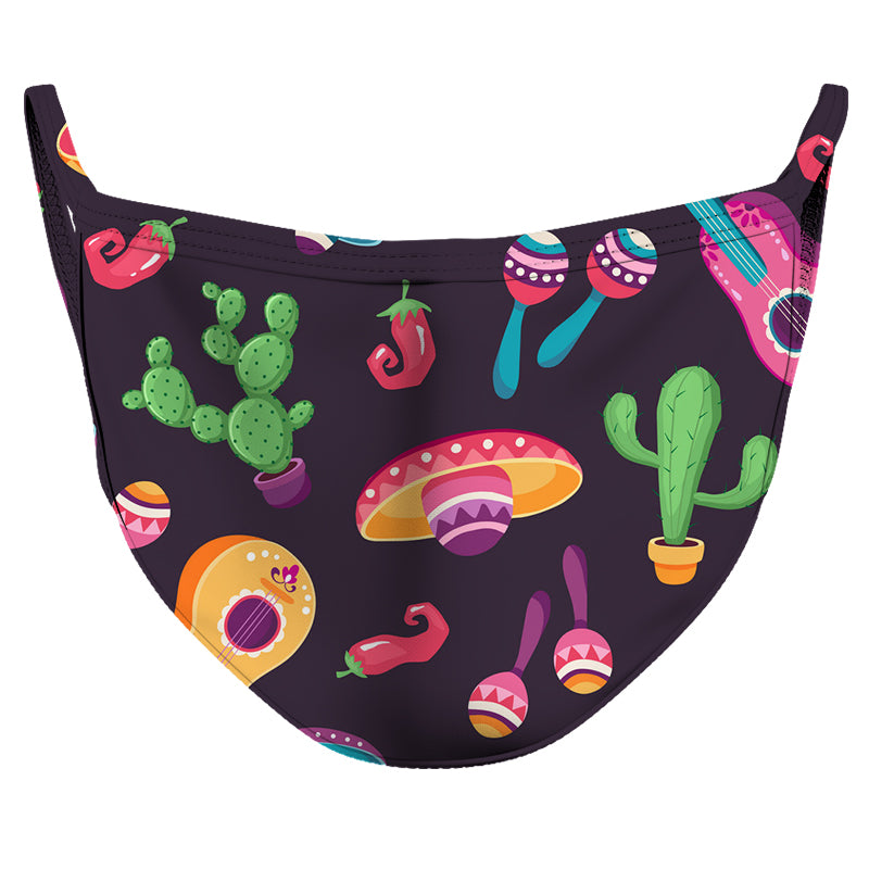 Sombreros y Fiesta Reusable Double Layer Cloth Face Mask and Covering