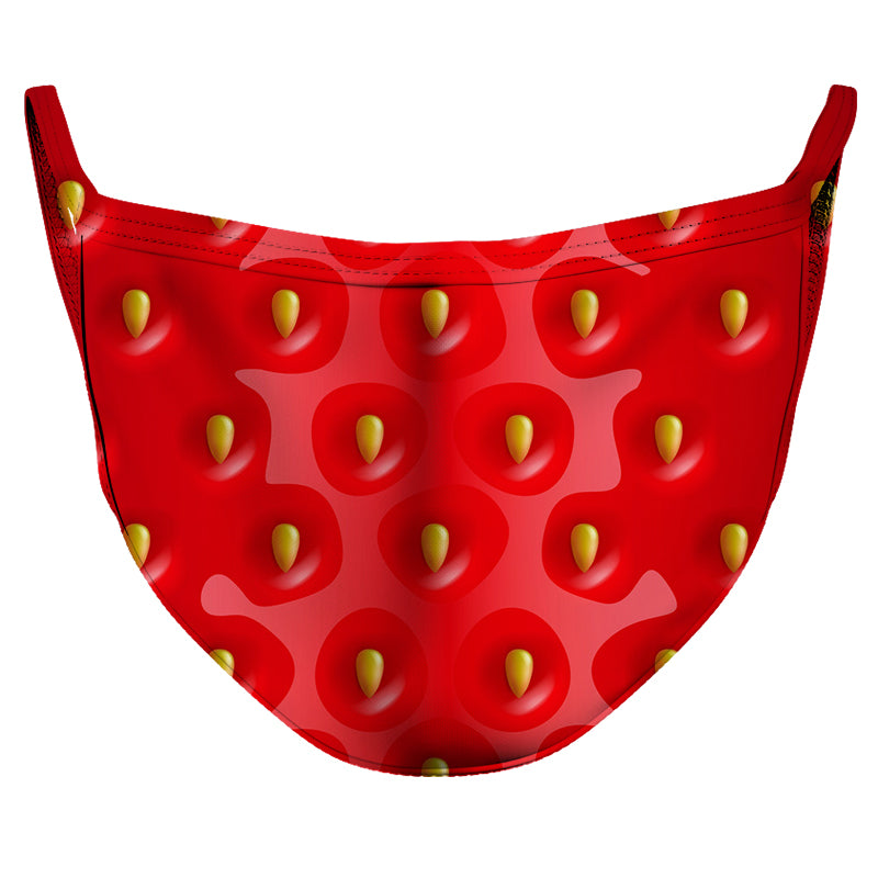Strawberry Mouth Reusable Double Layer Cloth Face Mask and Covering
