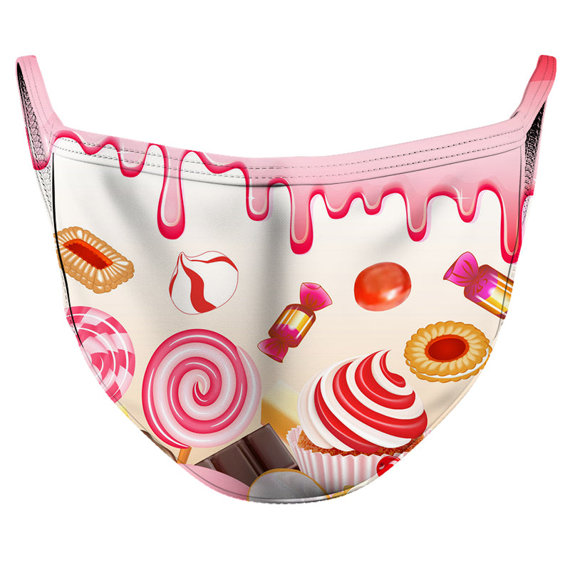 Sweets Reusable Double Layer Cloth Face Mask and Covering