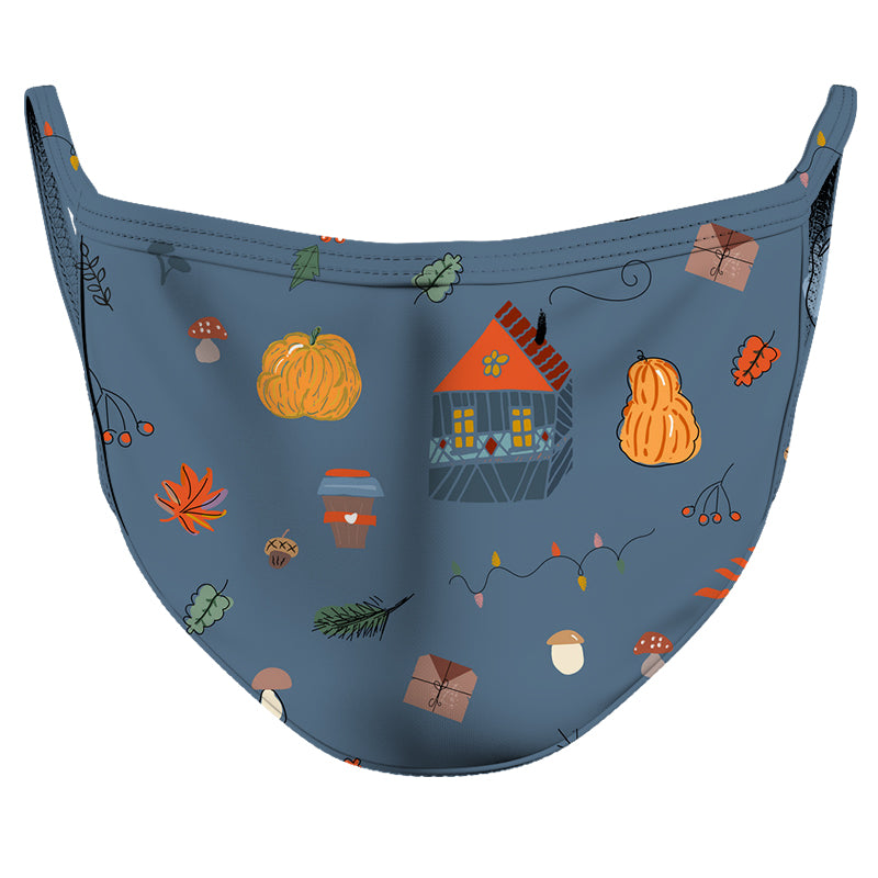 Thanksgiving with Family Reusable Double Layer Cloth Face Mask and Covering