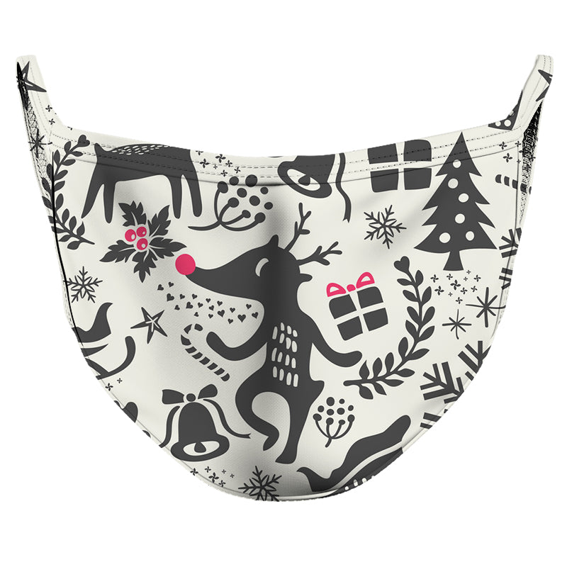 The Reindeer Brought Presents Reusable Double Layer Cloth Face Mask and Covering