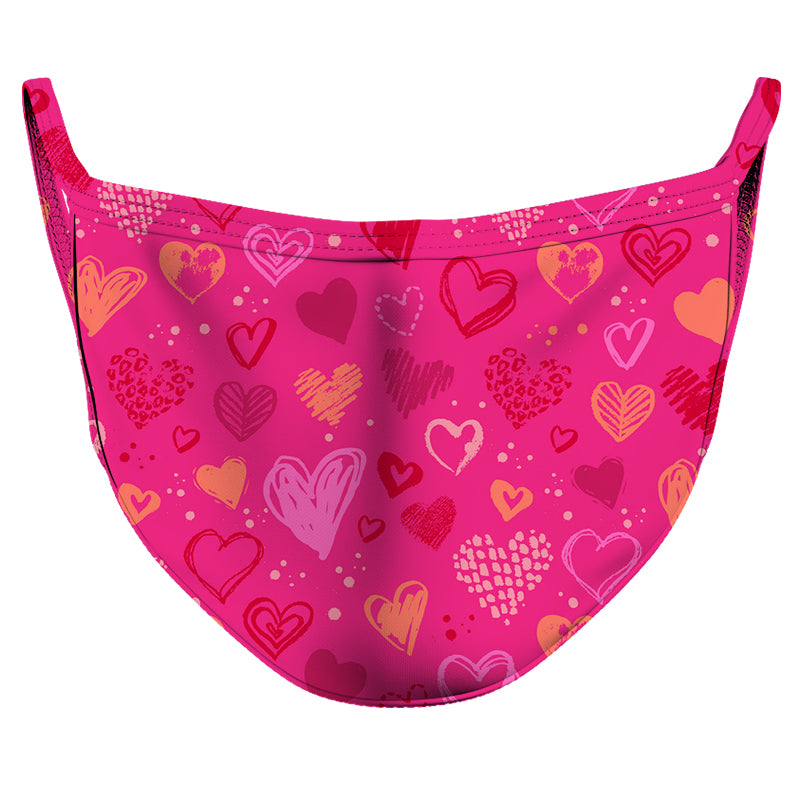 Valentines's Love Reusable Double Layer Cloth Face Mask and Covering