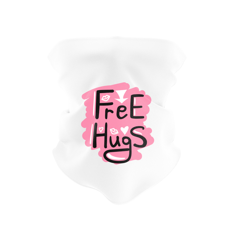 Free Hugs Reusable Neck Gaiter and Face Shield