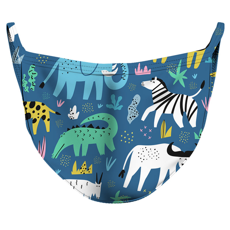 Young Animals Reusable Double Layer Cloth Face Mask and Covering