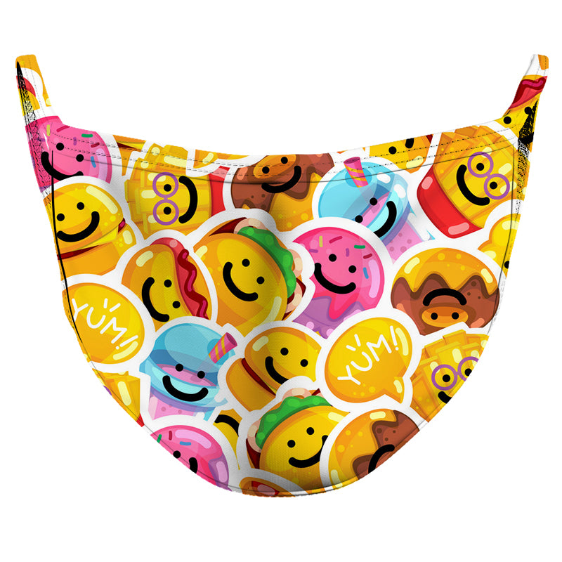 Yummy Friends Reusable Double Layer Cloth Face Mask and Covering