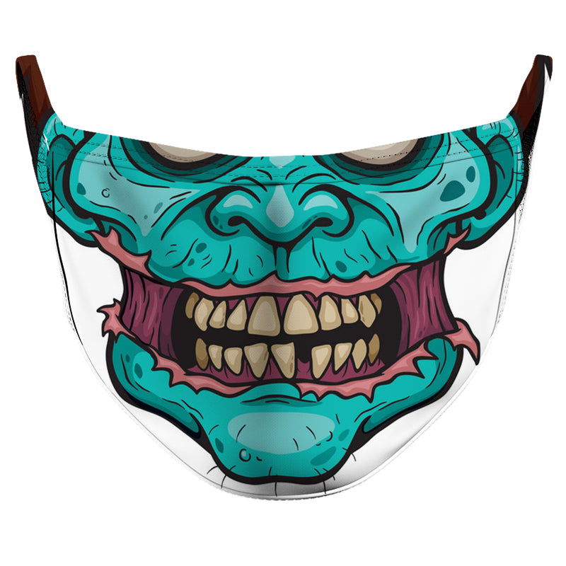 Sad Zombie Reusable Double Layer Cloth Face Mask and Covering
