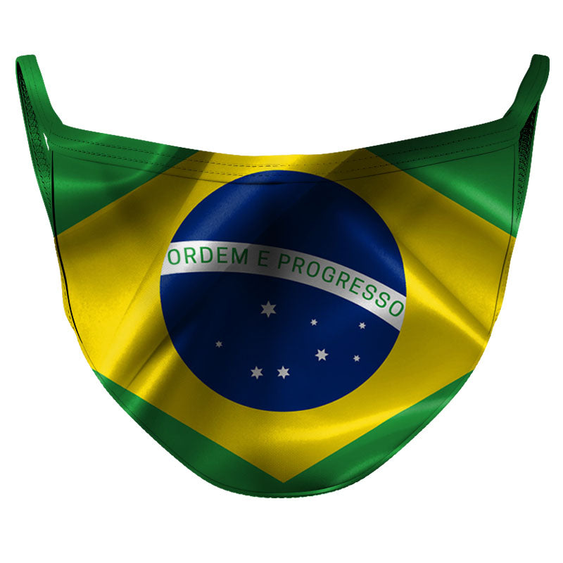 Brazil Reusable Double Layer Cloth Face Mask and Covering