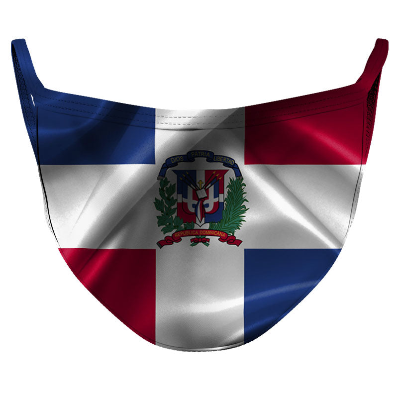 Dominican Republic Reusable Double Layer Cloth Face Mask and Covering