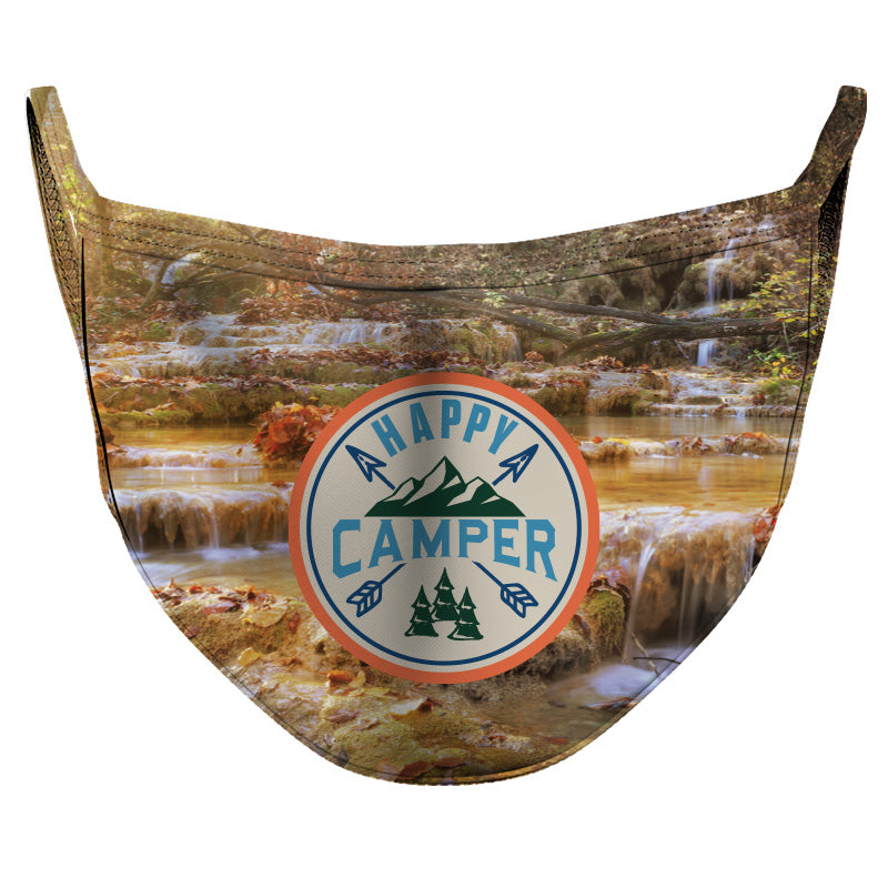 Happy Camper Reusable Double Layer Cloth Face Mask and Covering