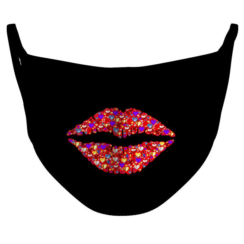 Heart Kiss Reusable Double Layer Cloth Face Mask and Covering