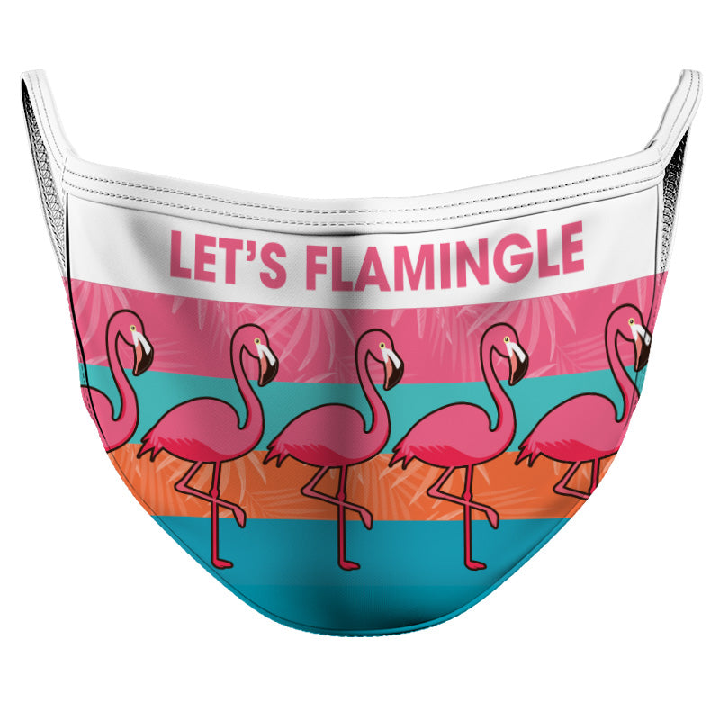 Let's Flamingle Reusable Double Layer Cloth Face Mask and Covering