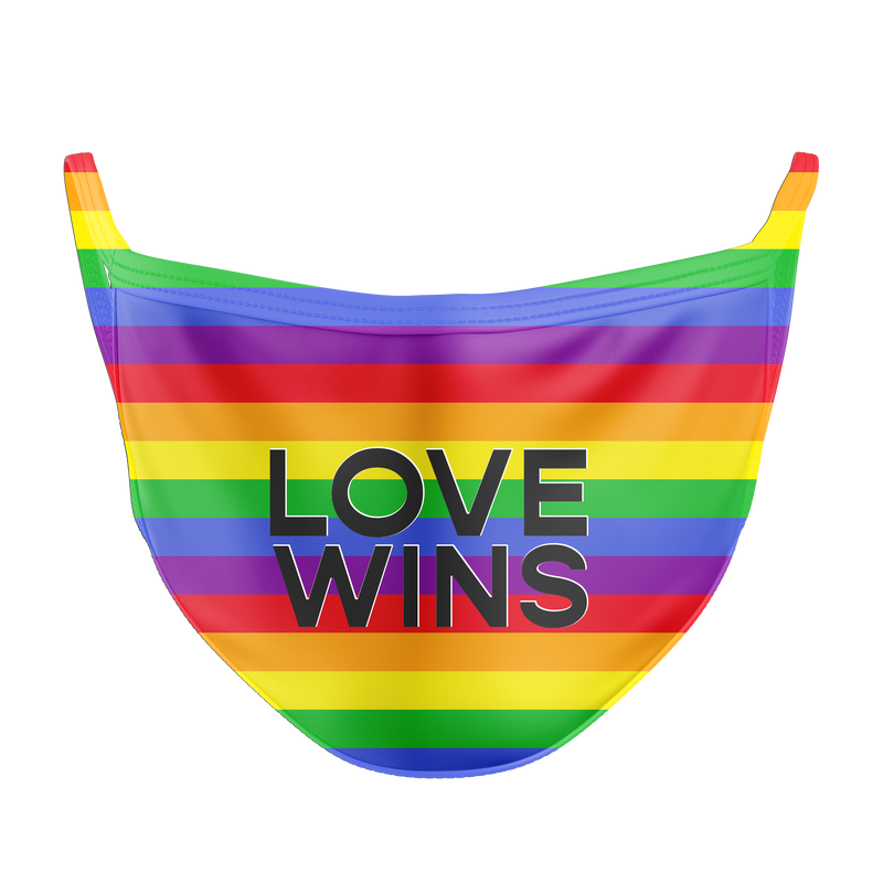 Love Wins Reusable Double Layer Cloth Face Mask and Covering
