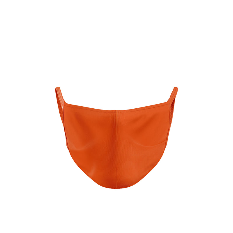 Orange 3-Pack Reusable Double Layer Cloth Face Mask and Covering