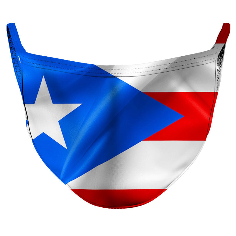 Puerto Rico Reusable Double Layer Cloth Face Mask and Covering