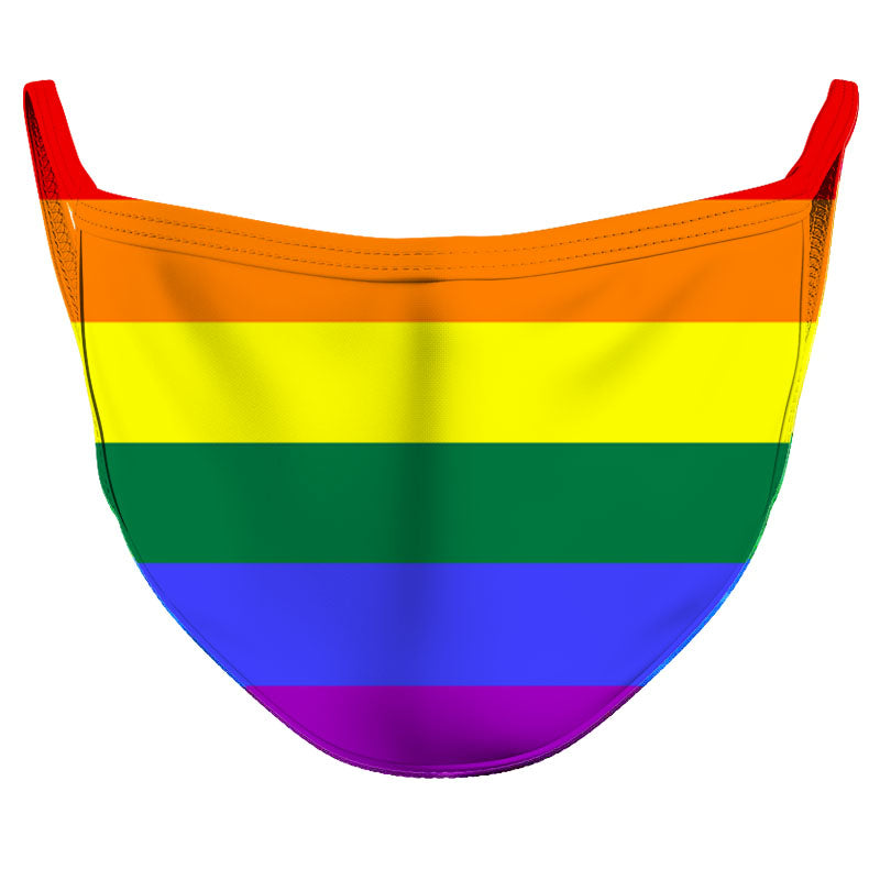 Rainbow Flag Reusable Double Layer Cloth Face Mask and Covering