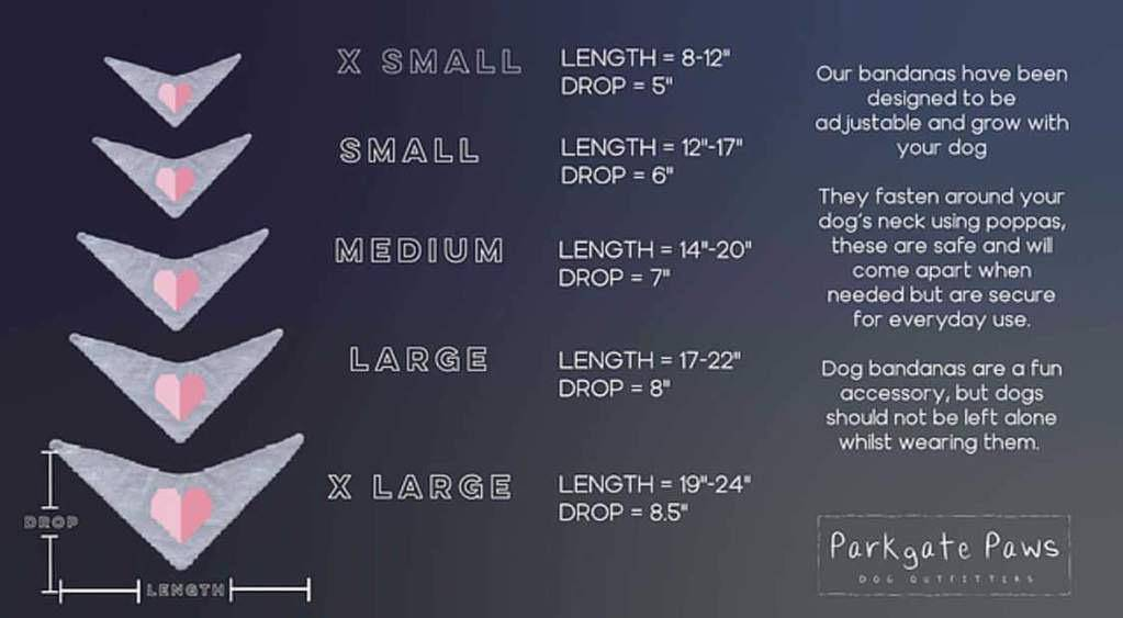 Dog Bandana Sizes