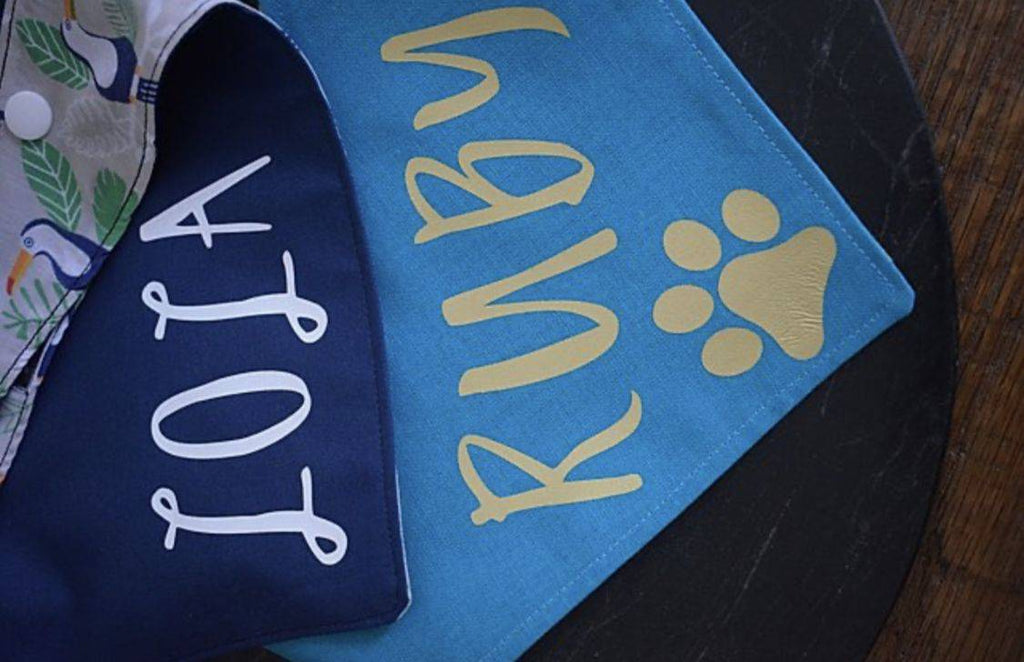 Personalise dog bandana