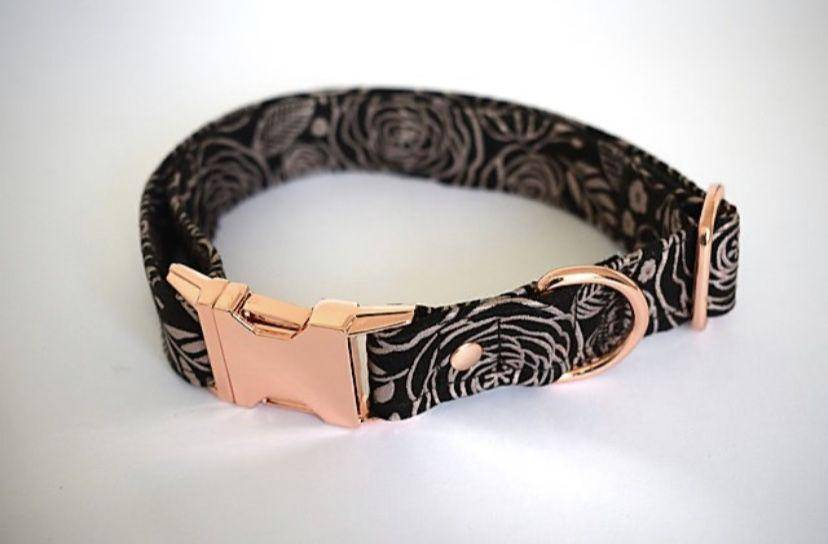 Kiss from a Rose Handmade Collar - Parkgate Paws