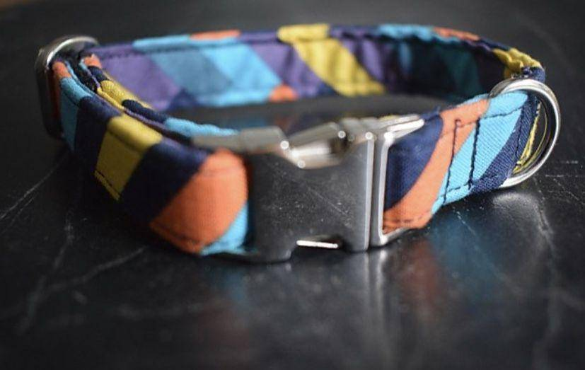 stripped handmade collars
