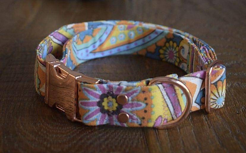 Groove is in the Heart Handmade Collar - Parkgate Paws