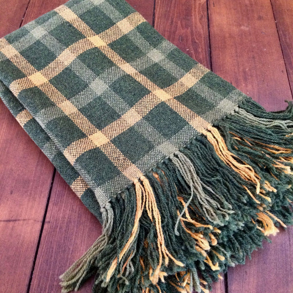 Handwoven Wool Blanket Throw