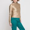 Gigi Shirt in Shimmering Tan