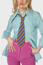 Load image into Gallery viewer, Maxime Neck Tie Blue 'n Orange Stripe