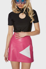 Load image into Gallery viewer, Minnie Skirt Paradise Pink Leather