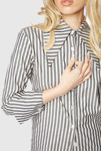 Load image into Gallery viewer, Annika Blouse Charcoal Stripe