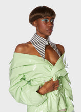 Load image into Gallery viewer, Bianca Collar Charcoal + Ivory Stripe