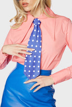 Load image into Gallery viewer, Maxime Neck Tie Blue 'n White Polka Dot