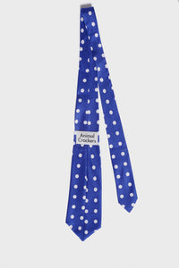 Maxime Neck Tie Blue 'n White Polka Dot