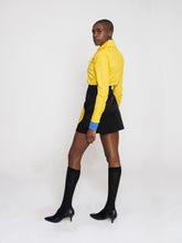 Load image into Gallery viewer, Odyssey Skirt Techno Black Mustard Yellow