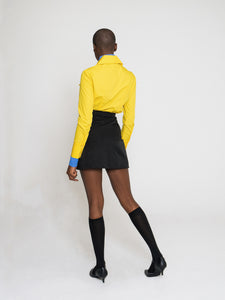 Odyssey Skirt Techno Black Mustard Yellow