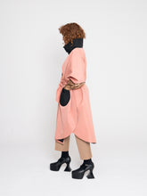 Load image into Gallery viewer, Rebecca Cape Coat Carnation Pink Jett Black